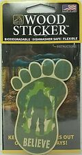 Bigfoot Believe Wood Sticker - Made In USA -