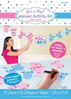 Baby Shower Girl or Boy Banner Activity Kit
