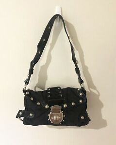 GUESS - Small Black Shoulder Bag With Studs Hardly Used