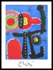 Joan Miro peinture poster image Art Impression avec Cadre Alu en Noir 80x60cm