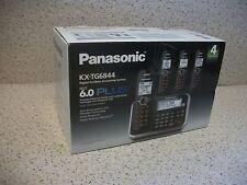 NEW Panasonic KX-TG6844B 4-Handset DECT 6 Plus Digital Cordless Answering System