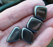 4 x STRONG MAGNETIC HEMATITE TUMBLESTONES STONES CRYSTALS * GIFT BAG & ID CARD
