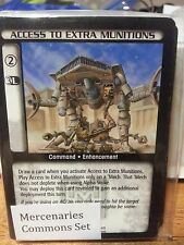BATTLETECH CCG MERCENARIES COMMONS SET  TCG