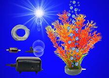 Aquarium Deko ❤️ SPRUDELNDE WASSERPFLANZE ➕ MEMBRANPUMPE ❤️ ➕ Zubehör Set(14)