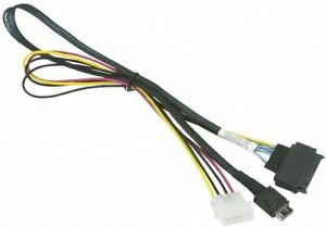 OCuLINK SFF-8611 (x4) TO U.2 PCIE SFF-8639 CABLE & 4 Pin Molex Power Cable 55cm