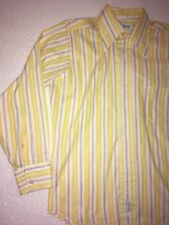 Vintage Mens Yellow Long Sleeve Shirt Size 15 1/2 x 34 Excellent Condition