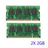4GB 2x2GB Memory RAM DDR2 667MHz PC2-5300 SODIMM 200pins Non-ECC For Laptop PC