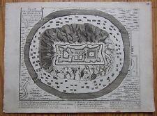 De Fer: Plan of Mukacheve Ukraine - 1695