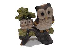 Vintage, OWL figurine, on branch, mid century modern