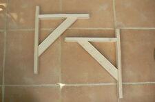 """Wooden Shelf Brackets x 2 (Ideal for 12"""" - 13"""" Shelves)."""