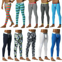 21 Color Mens Jockmail Thermal Cotton Warm Pants Long Johns Legging Bottom M-XL