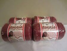 Lot of 4 Rolls of Wine 6mm Bonnie Braid Braided Macrame Craft Cord 400yds