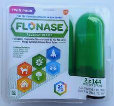 Flonase Allergy Relief Nasal Spray Twin Pack 2 X 144 Metered Sprays Exp. 12/2021