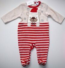 ZIP ZAP SPANISH CHRISTMAS TEDDY BEAR PLAYSUIT OUTFIT- GIRL BOY 6 MONTHS NEW