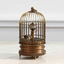 "Eximious brass birdcage machine clock with bird inside 5.3"""