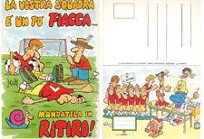 JACOVITTI Peruzzo Editore CARTOLINA Calcio 15x10,5cm anni 90 LA VOSTRA SQUADRA