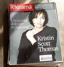 KRISTIN SCOTT THOMAS * TELERAMA 01/2011+ PLASTIKMAN + CHRISTINE ANGOT+ ...