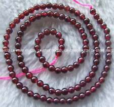 4mm Natural Red Garnet Round Loose Beads Stone 15.5''