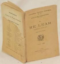 WILLIAM SHAKESPEARE IL RE LEAR KING LEAR TEATRO THEATRE 1910 GARRONI RUSCONI