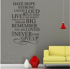 Wall stickers Have hope family rule Decal Removable Art Vinyl Decor Home Kids