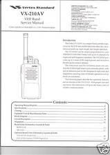 New Vertex Yaesu Vx-210Av Vhf band Service Manual in English
