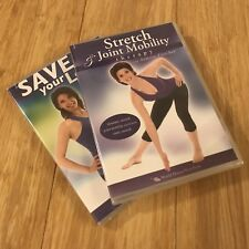 2 Exercise DVDs Annette Fletcher Save Your Lower Back Strech Joint Mobility