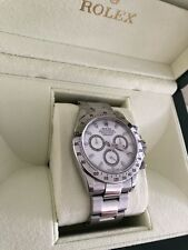Rolex Daytona Cosmograph Stainless Steel White Dial 116520 Box & Papers