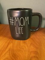 New Rae Dunn by Magenta Artisan LL #MOM LIFE Coffee Mug, Black, Farmhouse Decor