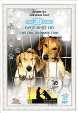Israel 2016 CTO dejar que los animales Souvenir hoja en vivo 5v Conjunto de Sellos De Perros Mascotas