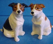 QUAIL CERAMIC JACK RUSSELL TERRIER DOG SALT & PEPPER POTS CONDIMENT OR CRUET SET