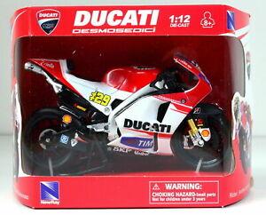 New ray 1:12 Andrea Iannone Ducati Toy Model Moto GP Motorbike Motorcycle