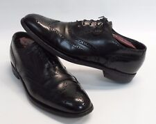 Mens HANOVER Masterflex Wingtip Oxford Black Leather Dress Shoes Size 8.5 D/B