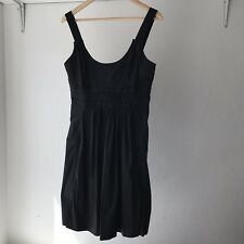 Witchery Womens Black Pleated Sleeveless Zip Dress, AU Size 10 / BNWT