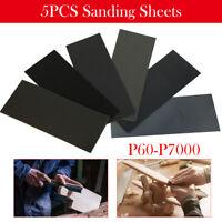 5x Schleifpapier wasserfest P60-7000 230x91mm Nass & Trocken Sand Papier Blätter
