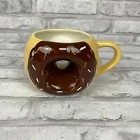 Sprinkle Donut Shaped Mug Large Chocolate Frosted Ceramic Coffee Tea Cup TAG