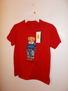 NWT Boys Size 7 Polo Ralph Lauren Polo Bear Red T-Shirt New