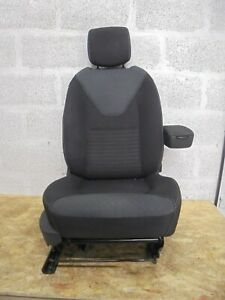 2015 RENAULT CLIO MK4 DRIVER SIDE FRONT SEAT BLACK & GREY CLOTH . GOOD USED