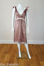 *PRINGLE OF SCOTLAND* SILK DEEP V NECK COCKTAIL DRESS (UK 10)