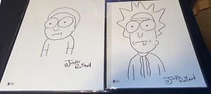 Rick & Morty Original Comic Art Sketches By Justin Roiland 1/1 Beckett PSA DNA
