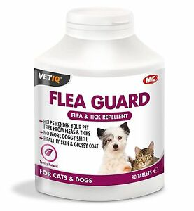VetIQ Flea Guard Flea & Tick Repellant Healthy skin & glossy coat No doggy Smell