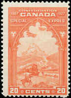 Mint H Canada 20c 1927 F Scott #E3 Special Delivery Stamp