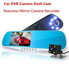HD Registrator DVR Dash Cam Video Recorder Rearview Mirror Car Camera Vehicle