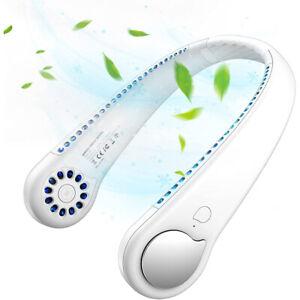 Portable Mini ventilateur TOUR de COU Rechargeable USB Refroidisseur d'air