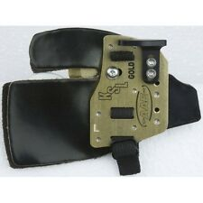 AAE Arizona KSL Gold Anchor Tab / Vingertab Brass Cordovan
