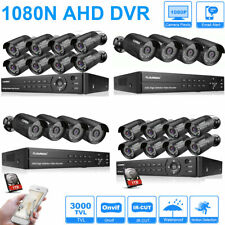 8Ch Cctv Dvr Security System 4/8x Hd 3000Tvl Outdoor Video Camera Surveillance