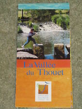 France - map of The Thouet Valley - the valley south of Saumur on the Loire.
