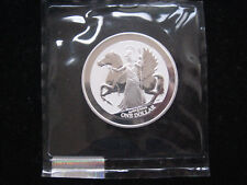 "MDS British Virgin Islands ONE DOLLARO 2017 REVERSE PROOF ""Pegasus"", Argento"