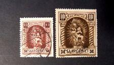 "GERMANIA,Germany Post Reich SARRE SAAR 1925 "" Madonna.Quadro "" 2V. Cpl set Used"