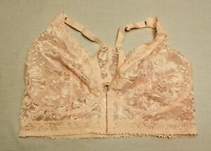 Leading Lady Women's The Nola Front Closure Bralette MP7 Pearl Pink Size 2X NWT