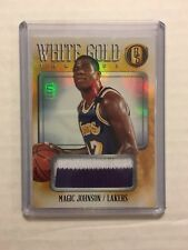 MAGIC JOHNSON 2013-14 GOLD STANDARD WHITE GOLD THREADS PRIME PATCH #/10 LAKERS